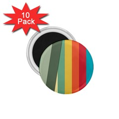 Texture Stripes Lines Color Bright 1 75  Magnets (10 Pack)  by Simbadda
