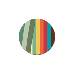 Texture Stripes Lines Color Bright Golf Ball Marker by Simbadda