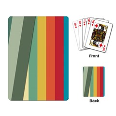 Texture Stripes Lines Color Bright Playing Card