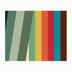 Texture Stripes Lines Color Bright Small Glasses Cloth (2 Side) by Simbadda