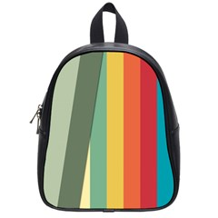 Texture Stripes Lines Color Bright School Bags (small)  by Simbadda