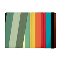 Texture Stripes Lines Color Bright Apple Ipad Mini Flip Case by Simbadda