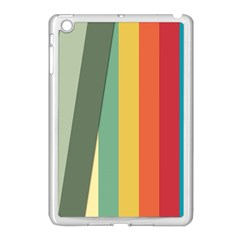 Texture Stripes Lines Color Bright Apple Ipad Mini Case (white)