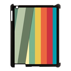 Texture Stripes Lines Color Bright Apple Ipad 3/4 Case (black) by Simbadda