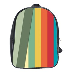 Texture Stripes Lines Color Bright School Bags (xl)  by Simbadda