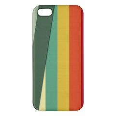 Texture Stripes Lines Color Bright Iphone 5s/ Se Premium Hardshell Case by Simbadda