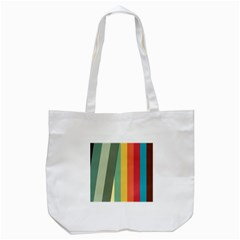 Texture Stripes Lines Color Bright Tote Bag (white) by Simbadda