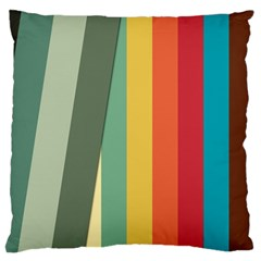 Texture Stripes Lines Color Bright Standard Flano Cushion Case (two Sides) by Simbadda
