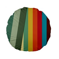 Texture Stripes Lines Color Bright Standard 15  Premium Flano Round Cushions by Simbadda