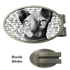Sphynx Cat Money Clips (oval)  by Valentinaart