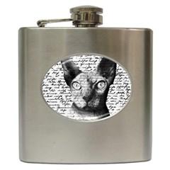 Sphynx Cat Hip Flask (6 Oz) by Valentinaart