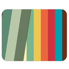 Texture Stripes Lines Color Bright Double Sided Flano Blanket (medium)  by Simbadda