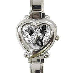 Sphynx Cat Heart Italian Charm Watch by Valentinaart