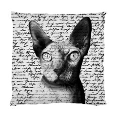 Sphynx Cat Standard Cushion Case (one Side) by Valentinaart