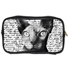 Sphynx Cat Toiletries Bags 2 Side by Valentinaart