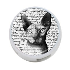 Sphynx Cat 4 Port Usb Hub (two Sides)  by Valentinaart