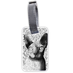 Sphynx Cat Luggage Tags (two Sides) by Valentinaart