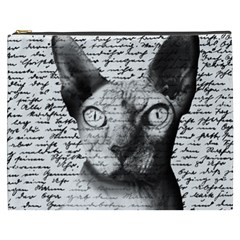 Sphynx Cat Cosmetic Bag (xxxl)  by Valentinaart