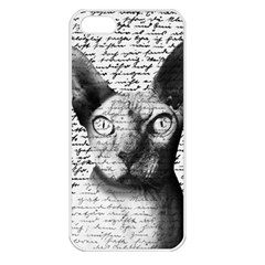Sphynx Cat Apple Iphone 5 Seamless Case (white) by Valentinaart