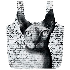 Sphynx Cat Full Print Recycle Bags (l)  by Valentinaart