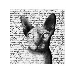 Sphynx Cat Small Satin Scarf (square) by Valentinaart