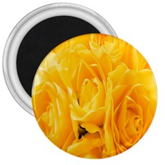 Yellow Neon Flowers 3  Magnets by Simbadda