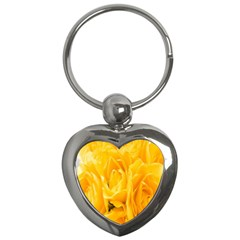 Yellow Neon Flowers Key Chains (heart)  by Simbadda