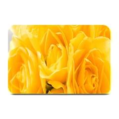 Yellow Neon Flowers Plate Mats by Simbadda