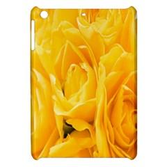 Yellow Neon Flowers Apple Ipad Mini Hardshell Case by Simbadda