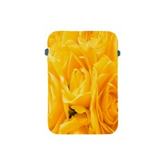 Yellow Neon Flowers Apple Ipad Mini Protective Soft Cases by Simbadda