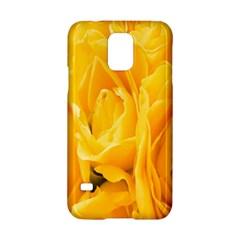 Yellow Neon Flowers Samsung Galaxy S5 Hardshell Case  by Simbadda