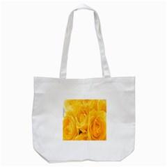 Yellow Neon Flowers Tote Bag (white) by Simbadda