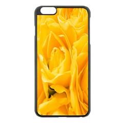 Yellow Neon Flowers Apple iPhone 6 Plus/6S Plus Black Enamel Case