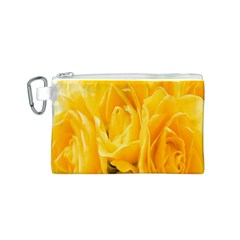 Yellow Neon Flowers Canvas Cosmetic Bag (s) by Simbadda