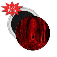 Tunnel Red Black Light 2 25  Magnets (100 Pack)  by Simbadda