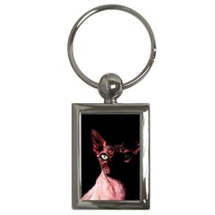Sphynx Cat Key Chains (rectangle)  by Valentinaart