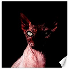 Sphynx Cat Canvas 12  X 12   by Valentinaart