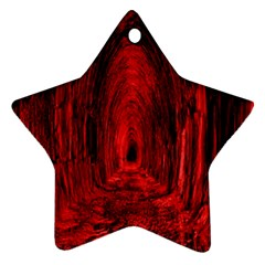 Tunnel Red Black Light Star Ornament (two Sides) by Simbadda