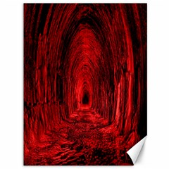 Tunnel Red Black Light Canvas 36  X 48   by Simbadda