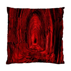 Tunnel Red Black Light Standard Cushion Case (one Side) by Simbadda