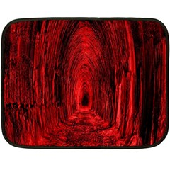Tunnel Red Black Light Double Sided Fleece Blanket (mini)  by Simbadda