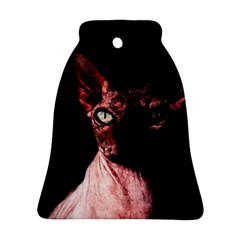 Sphynx Cat Bell Ornament (two Sides) by Valentinaart