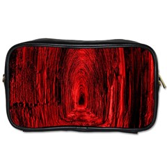 Tunnel Red Black Light Toiletries Bags 2 Side by Simbadda