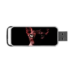 Sphynx Cat Portable Usb Flash (two Sides) by Valentinaart
