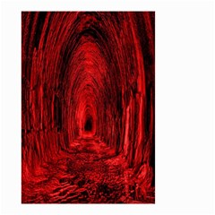 Tunnel Red Black Light Small Garden Flag (two Sides) by Simbadda