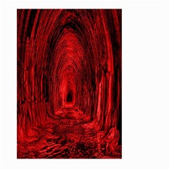 Tunnel Red Black Light Large Garden Flag (two Sides) by Simbadda