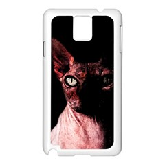Sphynx Cat Samsung Galaxy Note 3 N9005 Case (white) by Valentinaart