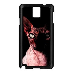 Sphynx Cat Samsung Galaxy Note 3 N9005 Case (black) by Valentinaart