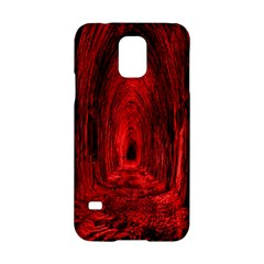 Tunnel Red Black Light Samsung Galaxy S5 Hardshell Case  by Simbadda