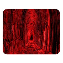 Tunnel Red Black Light Double Sided Flano Blanket (large)  by Simbadda